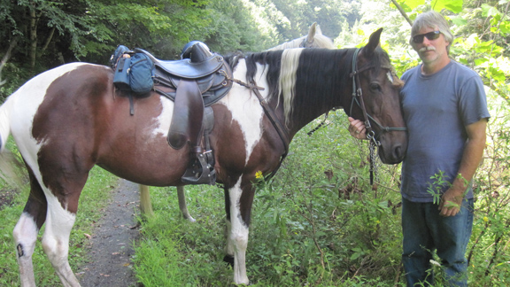Shay and Jeff returning to slow trail riding after battling EPM for years.