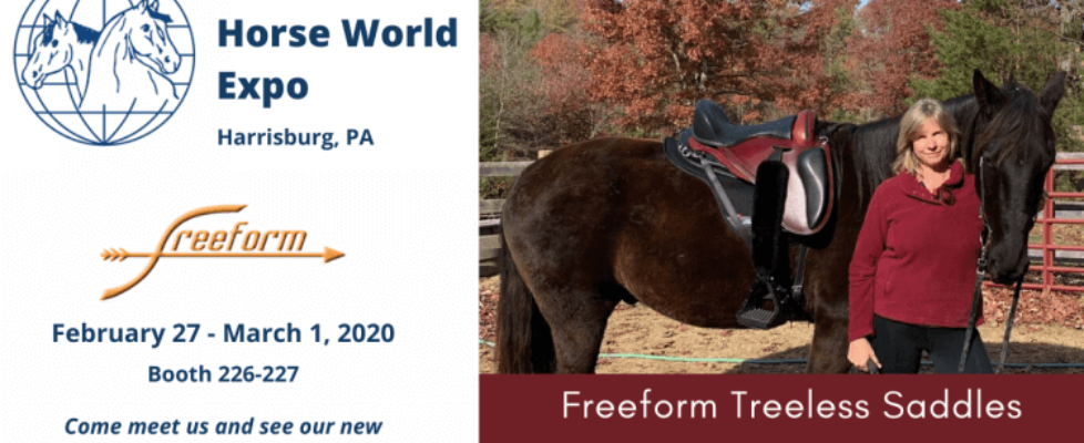 Come meet Freeform Treeless Saddles at the 2020 Horse World Expo